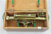 Sale 8288 - Lot 40 - Brass Surveyors Theodolite in Case