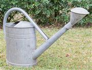 Sale 8422A - Lot 19 - A good quality vintage watering can, 7 gallon capacity, made by BAT, width 77cm