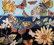 Sale 8467 - Lot 517 - David Bromley (1960 - ) - Butterflies 76.5 x 91cm (frame size: 114.5 x 99cm)