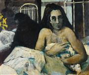 Sale 8467 - Lot 547 - Clifton Pugh (1924 - 1990) - In the Maternity Ward, 1955 67 x 80cm