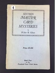 Sale 8539M - Lot 154 - Early Walter B. Gibson, Sixteen Master Card Mysteries. First Edition. Published by the author, 1928