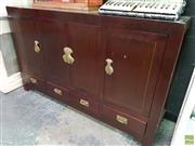 Sale 8589 - Lot 1009 - Chinese Dark Stained 4 Door 4 Drawer Sideboard