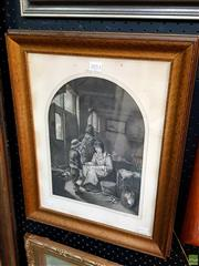 Sale 8659 - Lot 2053 - Dutch Engraving - Young Boy and Elders, 51 x 40cm (frame size)
