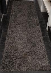 Sale 8761A - Lot 30 - A grey plush hall runner L x 306cm, W 82cm