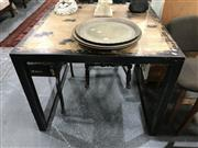 Sale 8889 - Lot 1377 - Square Distressed Black Occasional Table