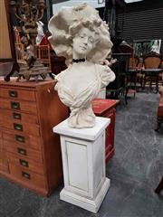 Sale 8925 - Lot 1089 - A composite figure of a french aristocrat on pedestal base