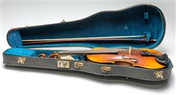 Sale 9211 - Lot 77 - Violin With Bow in Case