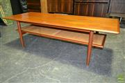 Sale 8235 - Lot 1005A - Parker Coffee Table with Rattan Shelf