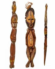 Sale 8409A - Lot 598 - Maprik Figures (Papua New Guinea)