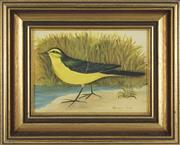 Sale 8716 - Lot 2082 - Frances Jones (1923 - 1999) - Yellow Wagtail 14.5 x 19.5cm