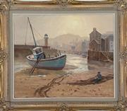 Sale 9044J - Lot 87 - Max Middleton - The Fisherman 49x59cm
