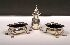 Sale 3650 - Lot 34 - A SILVER PLATED THREE PIECE CRUET SET