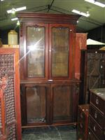 Sale 7919A - Lot 1707 - Victorian Carved Mahogany Bookcase with 4 Glass Panel Doors