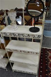 Sale 8013 - Lot 1106 - White Metal Bakers Stand