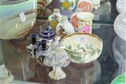 Sale 8256 - Lot 39 - Satsuma Bowl with Other Miniature Wares incl. Royal Crown Derby