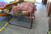 Sale 8338 - Lot 1333 - Large Metal Base Timber Top Coffee Table