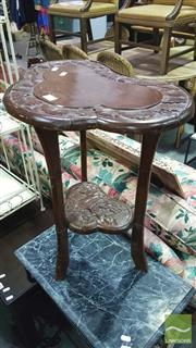 Sale 8371 - Lot 1040 - Carved Timber Sidetable