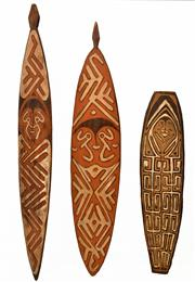 Sale 8409A - Lot 599 - Gope Boards (3) (Papuan Gulf, New Guinea)
