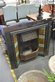 Sale 8406 - Lot 1167 - Cast Iron Fire Surround w Tile Decoration