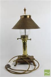 Sale 8486 - Lot 73 - Brass Reproduction Orient Express Oil Lantern