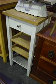 Sale 8566 - Lot 1595 - Three Tiered Kitchen Island with Single Drawer