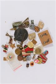 Sale 9007 - Lot 66 - A Collection of Military, And other Pins, Badges And Medallions
