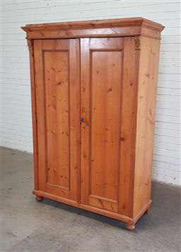 Sale 9151 - Lot 1399A - Kauri Pine Armoire with Fitted Interior (h:188 x w:127 x d:57cm)