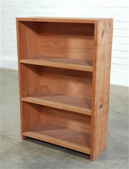 Sale 9174 - Lot 1027 - Timber open bookcase (h:91 x w:61cm)