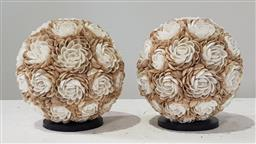 Sale 9188 - Lot 1535 - Pair of shell covered table lamps (h:23cm)