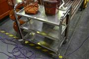 Sale 8115 - Lot 1069 - 3 Tier Metal Serving Trolley