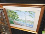 Sale 8413T - Lot 2034 - Ann Guy, The Esplanade Rose Bay, gouache on paper, 28.5 x 45cm signed lower right