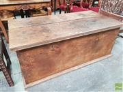 Sale 8444 - Lot 1083 - Indian Hardwood Chest, with hinged lids (lacking metal mounts)