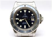 Sale 8502 - Lot 377 - A TUDOR PRINCE OYSTERDATE SNOWFLAKE SUBMARINER WRISTWATCH; ref; 7021/0, in stainless steel with dark blue dial, centre seconds date,...