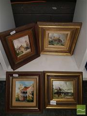 Sale 8552 - Lot 2075 - 4 Works: Lane, Oil on Board incl Springwood, Hartley & 2 Similar Examples, all SLR