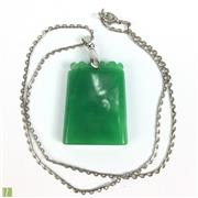 Sale 8652W - Lot 48 - Green Jade Pendant with Necklace  h: 28cm