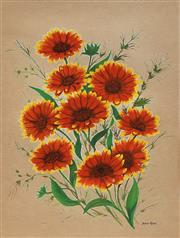 Sale 8682 - Lot 2022 - Joan Kerr (1938 - 2004) Daisies, watercolour, 37 x 27cm, signed lower right -