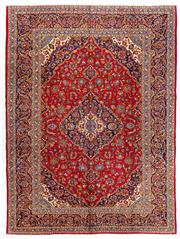 Sale 8770C - Lot 24 - A Persian Kashan From Isfahan Region 100% Wool Pile On Cotton Foundation, 291 x 392cm
