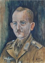 Sale 8858A - Lot 5079 - William Straube (1871 - 1954) - German Afrika Korps (Italian Division), 1944 30 x 20cm