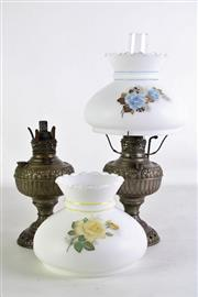 Sale 8931 - Lot 97 - Pair of Small Miller Lamps with shades