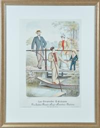 Sale 9090H - Lot 11 - The Italian French Anglo American Fashions - Le Grand editions Frame size 80cm x 63cm