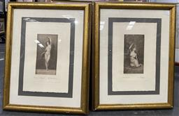 Sale 9135 - Lot 2088 - Pair of engravings after C19th originals by Allan Davidson and Albert Gilbert An Odalisque & The Snake Charmer 80 x 62 cm (frame)