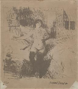 Sale 9237A - Lot 5047 - BERNARD DUNSTAN (1920 - 2017) Reclining Nude lithograph ed. 6/40 (AF) 20.5 x 18.5 cm (frame: 33.5 x 31.5 cm) signed lower right