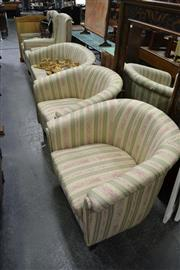 Sale 8115 - Lot 1460 - 5 Piece Upholstered Lounge Setting incl. 2 Seater Sofa, Pair of Armchairs & Pair of Tub Chairs