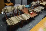 Sale 8550 - Lot 1017 - Set of Four Vintage Upholstered Chairs