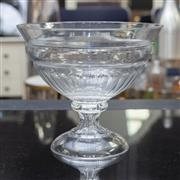 Sale 8709 - Lot 1064 - A large squat form faceted crystal bowl, Diameter 29cm