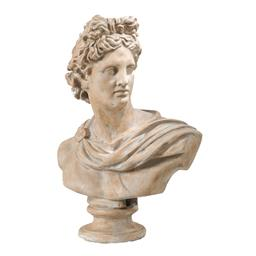 Sale 9140F - Lot 208 - A large Placida Bust Statue with a weathered finish. Dimensions: W61 x D34 x H79 cm