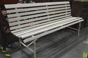 Sale 8262 - Lot 1052 - Large Painted Timber Bench Seat