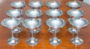 Sale 8341A - Lot 47 - A set of 12 EP Perfection goblets, H 12cm