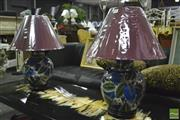 Sale 8368 - Lot 1016 - Pair of Satsuma Lamps (4282)