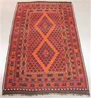 Sale 8438K - Lot 22 - Fine Kyber Afghan Kilim Rug | 390x240cm, Pure Wool, Finely handwoven in Northern Afghanistan using high quality local wool. Rich and...